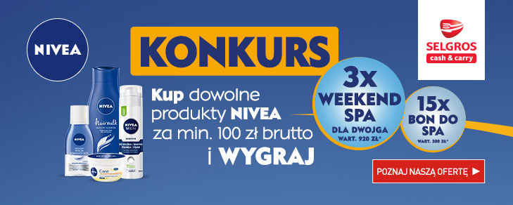 Konkurs Nivea - wygraj weekend w SPA